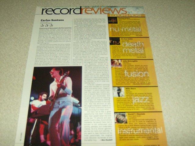 Santana 1 Page Article/Clipping #2