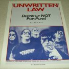 Unwritten Law 1 Page Clipping/Pinup
