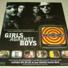 Girls Against Boys Series 7 Ad/Clipping