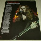 Dave Mustaine 1 Page Article/Clipping