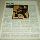 Jimi Hendrix 1 Page Article/Clipping
