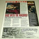 Machine Head 1 Page Article/Clipping