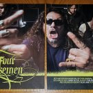 The Four Horsemen 4 Page Article - Clipping Tom Arya, Randy Blythe, Alexi Laiho