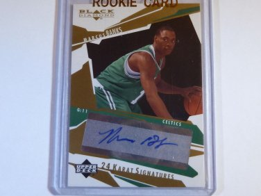MARCUS BANKS 2003-04 Black Diamond 24 Karat Signatures Auto Graph RC Rookie Card