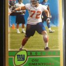 2003 Topps Osi Umenyiora Gold Rookie Card RC #174/499 RARE NY Giants #324