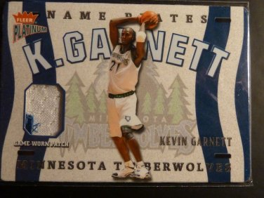 2002-03 Fleer Platinum Kevin Garnett Name Plates Patch Jersey 2 Color /400 N-KG