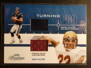 2004 Playoff Prestige DOUG FLUTIE Turning Pro Dual GU Jersey Card TP-2 #164/225