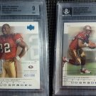 2001 UD Graded Rookie Kevan Barlow Portrait Action RC BGS 9 #/900 Mint Card LOT
