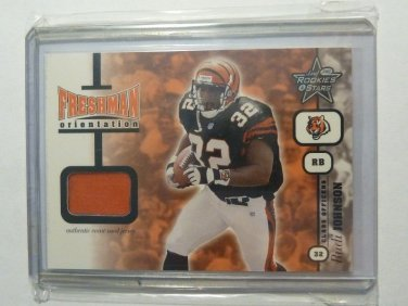 2001 Leaf Rookies & Stars Rudi Johnson Rookie RC Jersey Card Gold SP #47/50 NFL