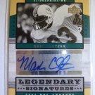 MARK CLAYTON NFL Legends Football Legendary Signatures Auto Graph Card LS-MC SP