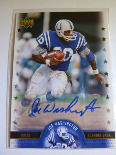 JOE WASHINGTON NFL Legends Football Legendary Signatures Auto Graph Card LS-JW