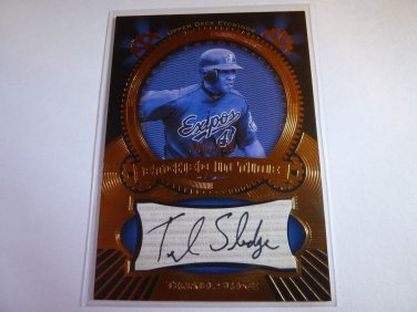 TERRMEL SLEDGE 2004 Upper Deck Etchings Auto Graph Card Etched in Time #240/325