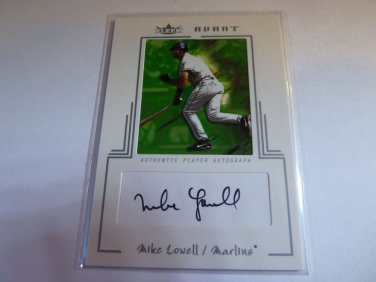 MIKE LOWELL 2003 Fleer Avant Auto Graph Card #47/75 Silver #AAC-ML MINT
