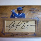 ANGEL BERROA 2004 Donruss Leather & Lumber CUTS Auto Graph Card Royals #194/224