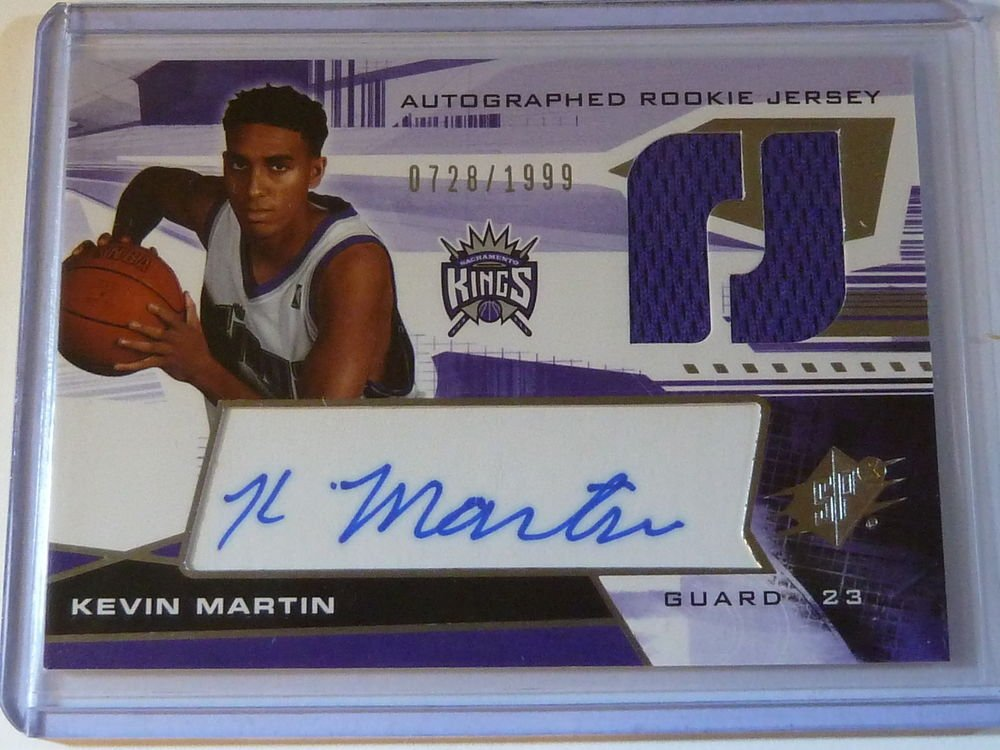 2004-05 SPx KEVIN MARTIN Auto Graph Rookie Jersey #728/1999 #130 Timberwolves