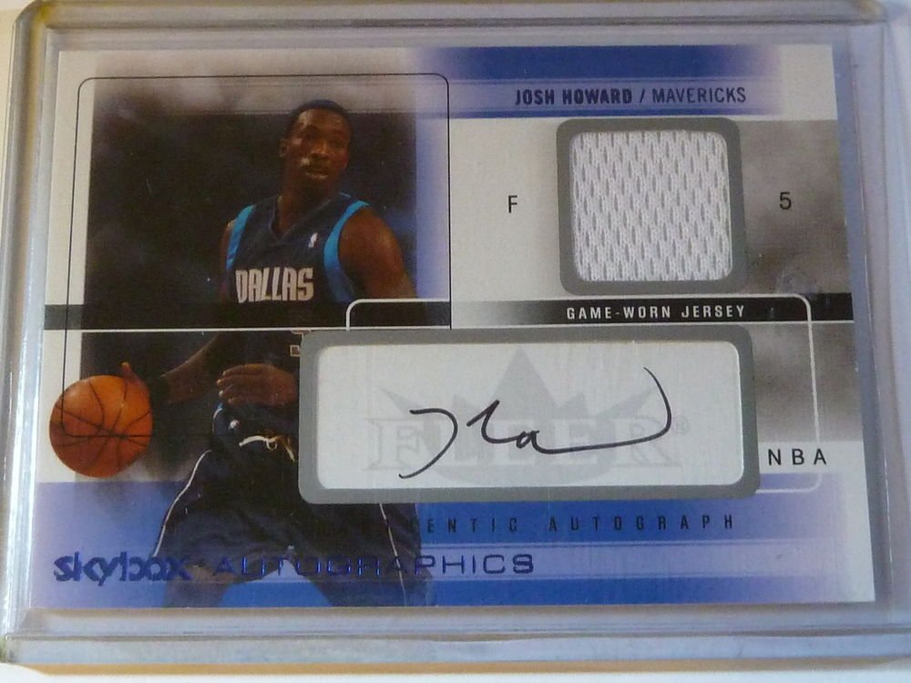 2004-05 SKYBOX Autographics JOSH HOWARD Auto Graph Game Used Jersey 32/100 AG-JH