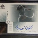2001 SP Authentic Brad Elder Sign of the Times Auto Graph Card Golf PGA AU Mint