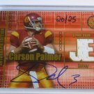 2003 Press Pass JE CARSON PALMER Auto Graph Jersey Rookie on Card RC #20/25 USC