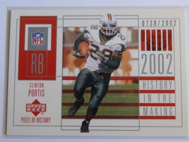 2002 UD Piece of History CLINTON PORTIS Rookie Card RC #105 #738/2002 $30 MINT