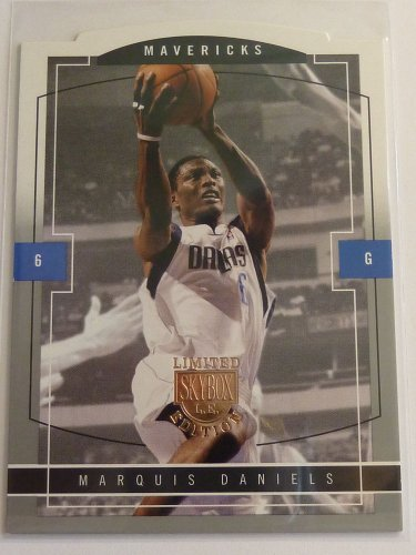 2003-04 Skybox LE MARQUIS DANIELS Rookie Card RC #121 #/399 Mavericks Die-Cut
