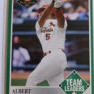 2001 Fleer Platinum RC ALBERT PUJOLS Rookie Card Team Leaders #435 MINT SP