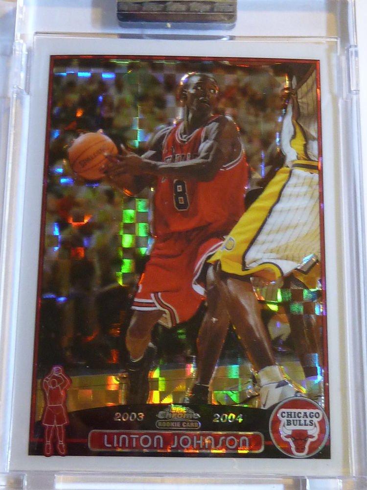 LINTON JOHNSON 2003-04 Topps Chrome XFractor Rookie Card RC #161 #169/220 Bulls