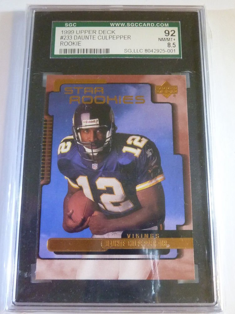 DUANTE CULPEPPER 1998 Upper Deck RC Rookie Football Card #233 SGC NM-MINT 8.5 92