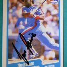 "1990 Fleer TIM ""ROCK"" RAINES Hand Signed Auto Graph Baseball Card #359 White Sox"