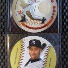2003 Fleer Hardball DEREK JETER Lot On the Ball Game Used Bat Card #2 Yankees