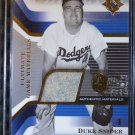 2004 Ultimate Collection DUKE SNIDER Game Materials Jersey Patch Card GJ-DS #/99