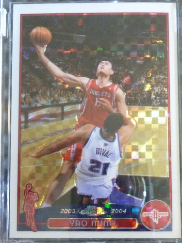 2003-04 Topps Chrome YAO MING Uncirculated Xfractor #11 #127/220 Houston Rockets