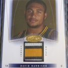 2004-05 NBA Hoops Hot Prospects DAVID HARRISON Future Swatch Jersey Rookie Card
