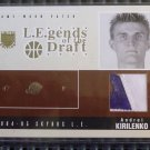 2004-05 Skybox LE ANDREI KIRILENKO Legends Draft Jersey PATCH Card LD-AK #16/25