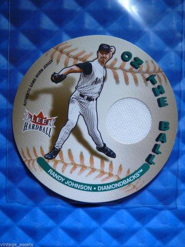 2003 Fleer Hardball RANDY JOHNSON On The Ball Game Worn Jersey Patch Card