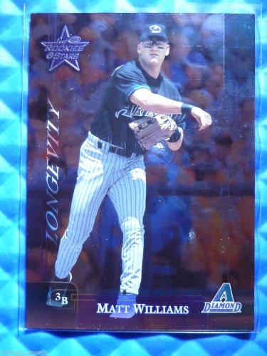 2002 Leaf Rookies & Stars MATT WILLIAMS Longevity #118 #4/100 Giants D-Backs