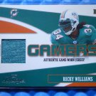 2004 Playoff Prestige RICKY WILLIAMS Gamers Game Worn Jersey Patch #/100 Texas