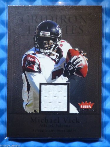 2004 Fleer Tradition MICHAEL MIKE VICK Gridiron Tributes Game Worn Jersey Patch