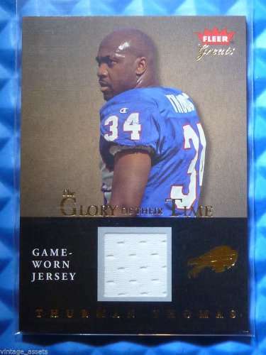 2004 Fleer Greats THURMAN THOMAS Glory of Their Time Game Worn Jersey Patch