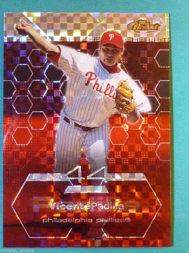 2003 Topps Finest VICENTE PADILLA Xfractor #91 #38/99 Phillies SP