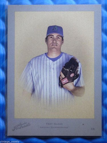 2005 Studio Portraits TROY GLAUS Leather Lumber Blue #SP-90 #40/40 RARE 1/1