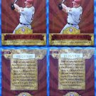 2004 Throwback Threads JIM THOME Blast from Past #/1500 BP-13 SP 2 Card LOT MINT
