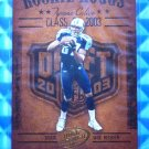 2003 Hogg Heaven TYRONE CALICO Rookie Hoggs RC #RCH-17 Titans MT Blue Raiders
