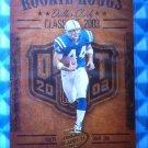 2003 Hogg Heaven DALLAS CLARK Rookie Hoggs RC #RCH-19 Colts Iowa