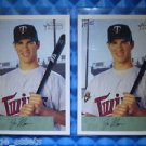 2- 2000 Bowman Heritage JOE MAUER Rookie Card RC Lot #238 Twins