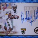 2005 Press Pass RODDY WHITE Auto Graph Rookie Card RC Blue Ink Falcons
