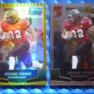 2- 2004 Topps Draft Picks & Prospects MICHAEL TURNER Rookie RC Chrome Gold Lot
