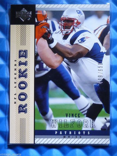 2004 NFL Legends VINCE WILFORK Rookie Card RC #158 #489/650 Patriots Miami Canes