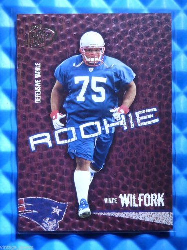 2004 Hogg Heaven VINCE WILFORK Rookie Card RC #149 #4/750 Patriots Miami Canes