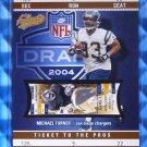 2004 Fleer Authentix MICHAEL TURNER Mezzanine Rookie Card RC #50/50 1/1