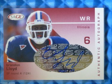 2003 SAGE BRANDON LLOYD Auto Graph Rookie Card RC Hand Numbered Ruby #/779